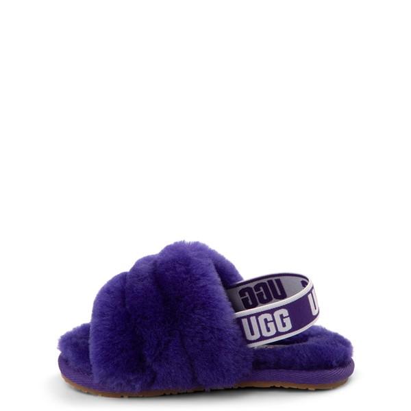 alternate view UGG® Fluff Yeah Slide Sandal - Toddler / Little Kid - Violet NightALT1