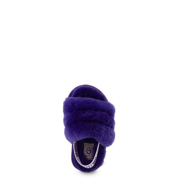 alternate view UGG® Fluff Yeah Slide Sandal - Toddler / Little Kid - Violet NightALT2
