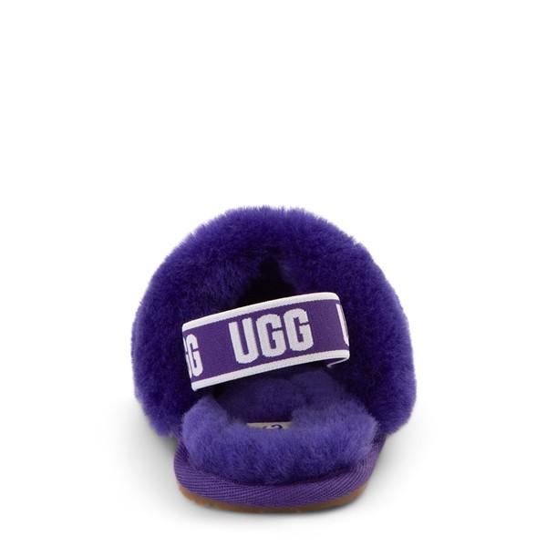 alternate view UGG® Fluff Yeah Slide Sandal - Toddler / Little Kid - Violet NightALT4
