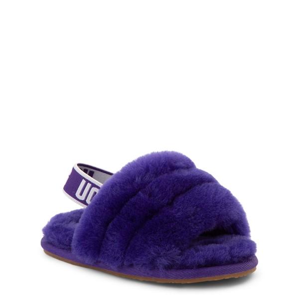alternate view UGG® Fluff Yeah Slide Sandal - Toddler / Little Kid - Violet NightALT5