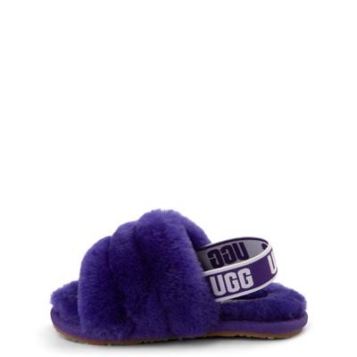 Alternate view of UGG® Fluff Yeah Slide Sandal - Toddler / Little Kid - Violet Night