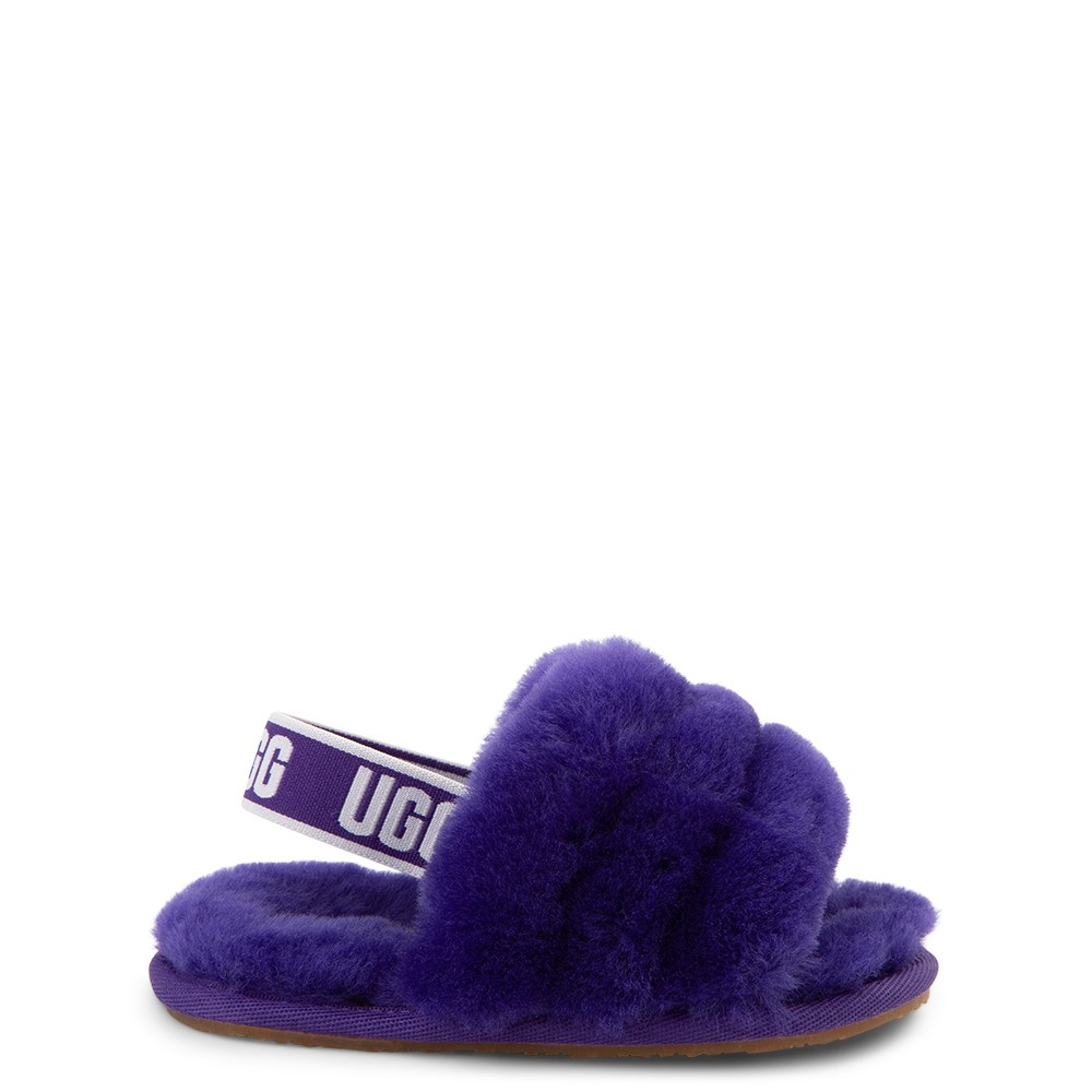 UGG® Fluff Yeah Slide Sandal - Toddler / Little Kid - Violet Night