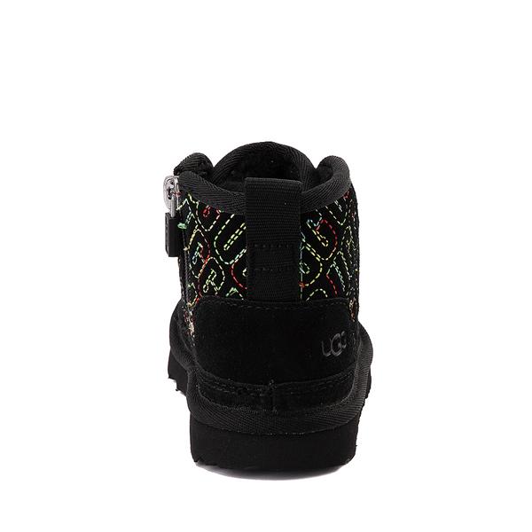 alternate view UGG® Neumel II Graphic Stitch Boot - Toddler / Little Kid - Black / RainbowALT4