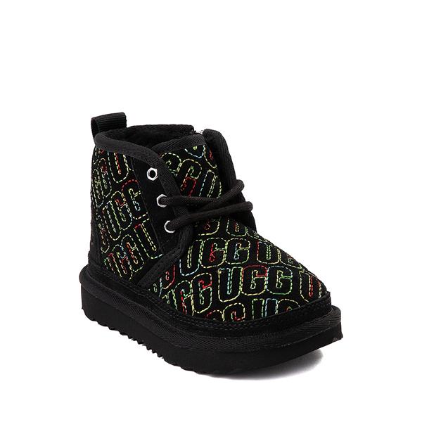 alternate view UGG® Neumel II Graphic Stitch Boot - Toddler / Little Kid - Black / RainbowALT5