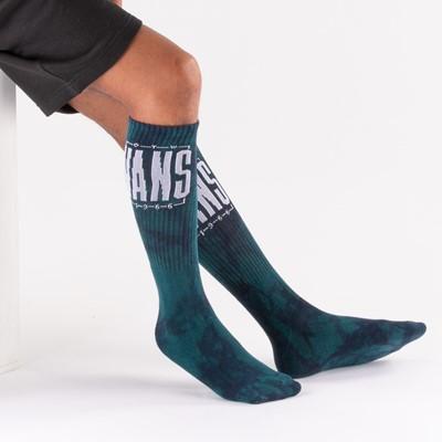 Alternate view of Mens Vans Easton Tie Dye Crew Socks - Blue Coral