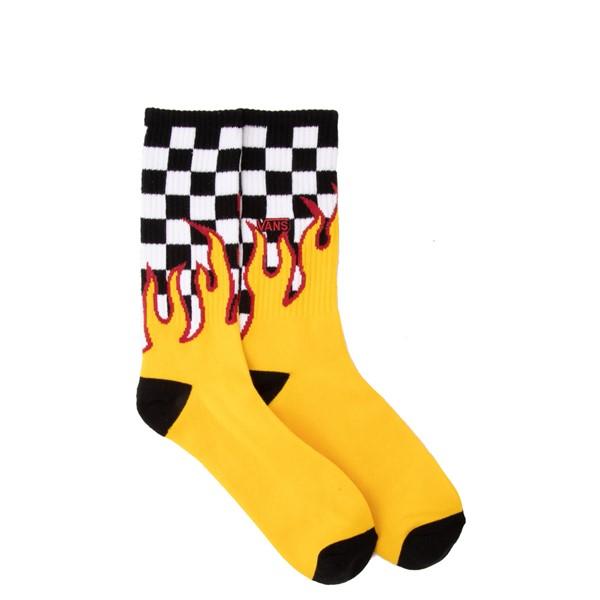Mens Vans Flame Check Crew Socks - Multicolor