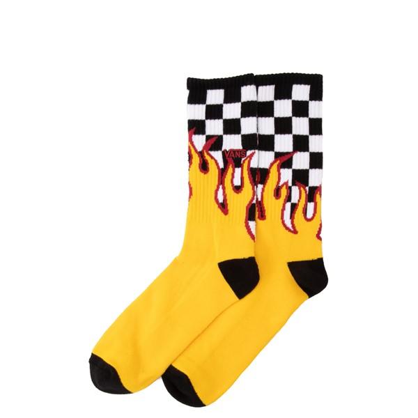 alternate view Mens Vans Flame Check Crew Socks - MulticolorALT1