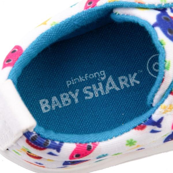 alternate view Baby Shark Lo Sneaker - Toddler - WhiteALT2B