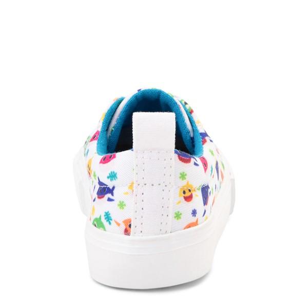 alternate view Baby Shark Lo Sneaker - Toddler - WhiteALT4