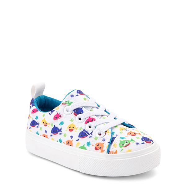 alternate view Baby Shark Lo Sneaker - Toddler - WhiteALT5