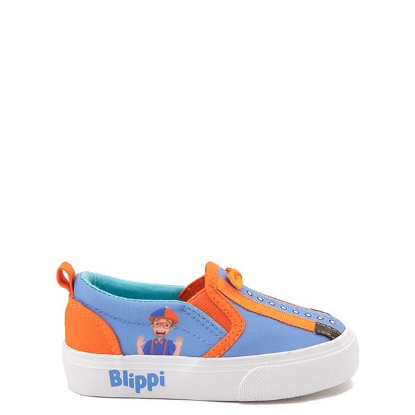 Main view of Blippi Slip On Sneaker - Toddler / Little Kid - Blue / Orange