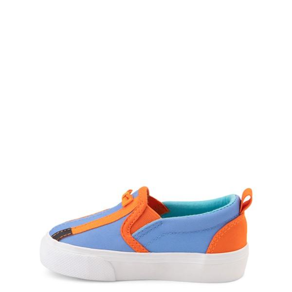alternate view Blippi Slip On Sneaker - Toddler / Little Kid - Blue / OrangeALT1