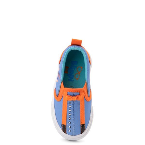 alternate view Blippi Slip On Sneaker - Toddler / Little Kid - Blue / OrangeALT2