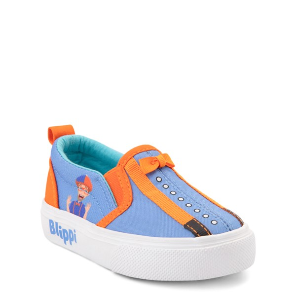 alternate view Blippi Slip On Sneaker - Toddler / Little Kid - Blue / OrangeALT5