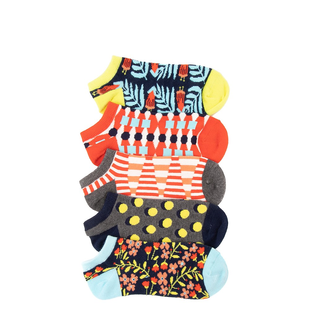 Womens Geometric Floral Liners 5 Pack - Multicolor
