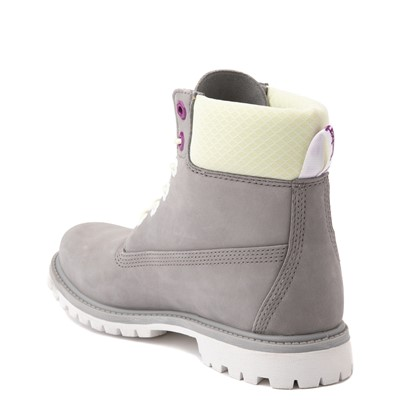 "Alternate view of Womens Timberland 6"" Premium Boot - Gray / Lime"