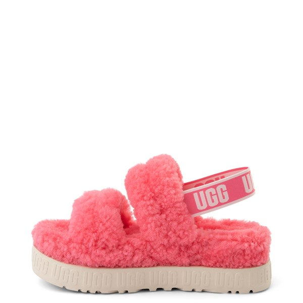 alternate view Womens UGG® Oh Fluffita Sandal - Pink RoseALT1