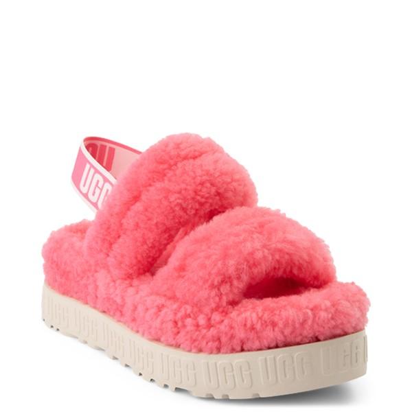 alternate view Womens UGG® Oh Fluffita Sandal - Pink RoseALT5