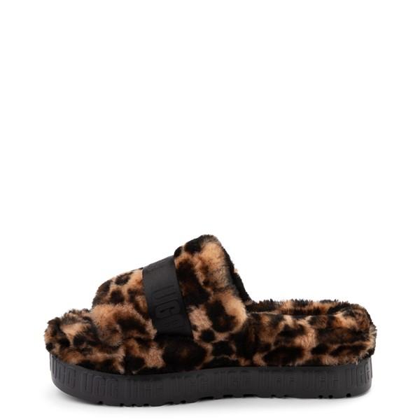 alternate view Womens UGG® Fluffita Panther Slide Sandal - ButterscotchALT1