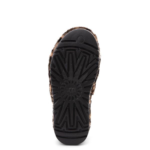 alternate view Womens UGG® Fluffita Panther Slide Sandal - ButterscotchALT3