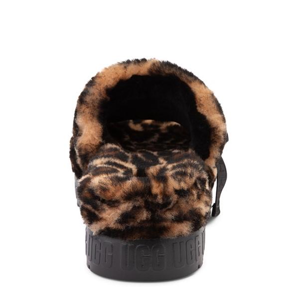 alternate view Womens UGG® Fluffita Panther Slide Sandal - ButterscotchALT4