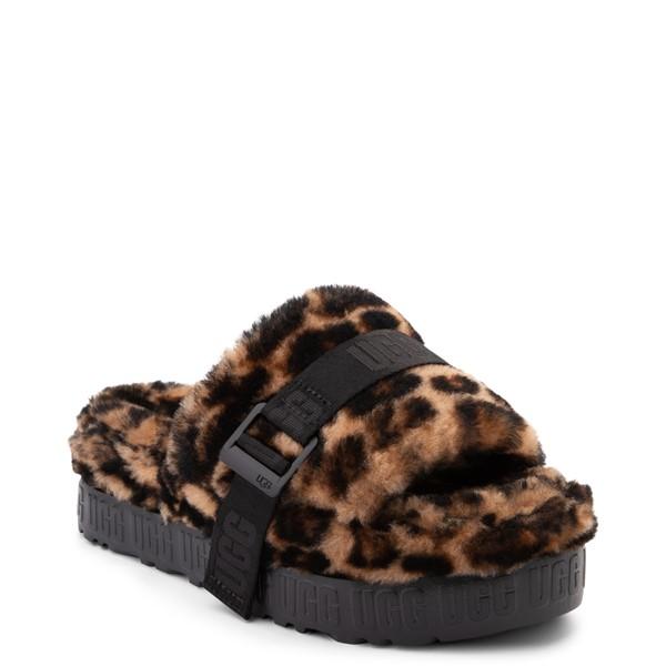 alternate view Womens UGG® Fluffita Panther Slide Sandal - ButterscotchALT5