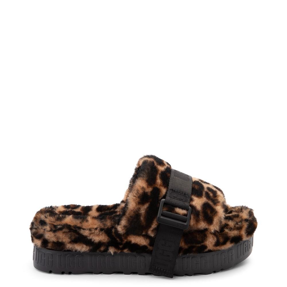 Womens UGG® Fluffita Panther Slide Sandal - Butterscotch