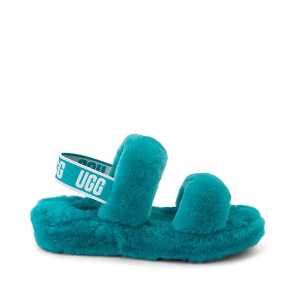 Womens UGG® Oh Yeah Slide Sandal - Aquatic Blue