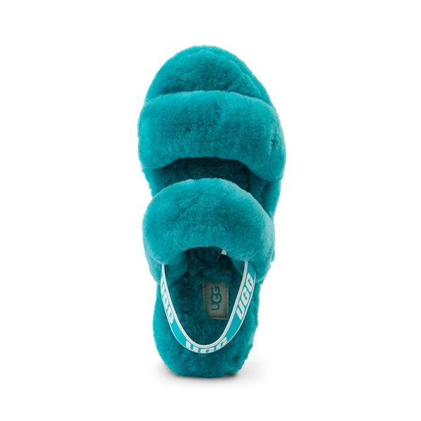 alternate view Womens UGG® Oh Yeah Slide Sandal - Aquatic BlueALT2