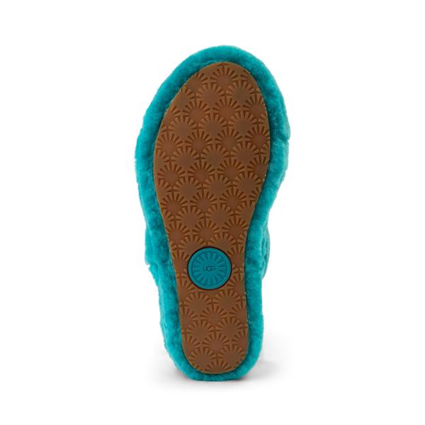 alternate view Womens UGG® Oh Yeah Slide Sandal - Aquatic BlueALT3