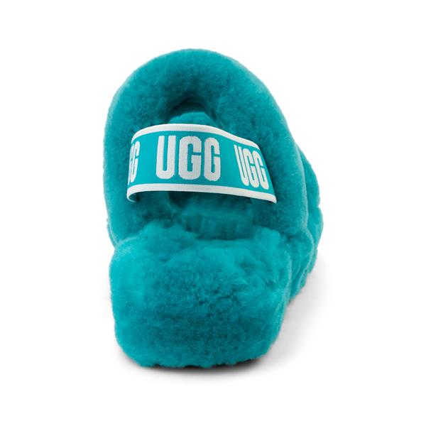 alternate view Womens UGG® Oh Yeah Slide Sandal - Aquatic BlueALT4