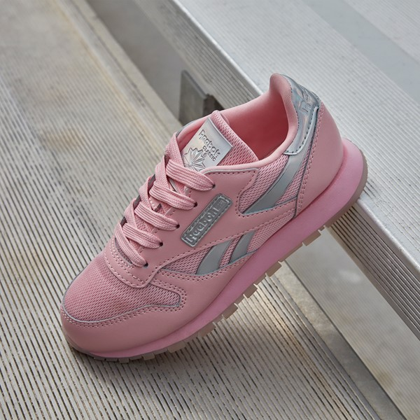 alternate view Reebok Classic Athletic Shoe - Big Kid - Pink / IridescentALT1B