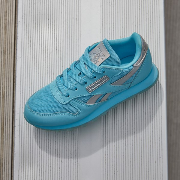 alternate view Reebok Classic Athletic Shoe - Big Kid - Blue / IridescentALT1B