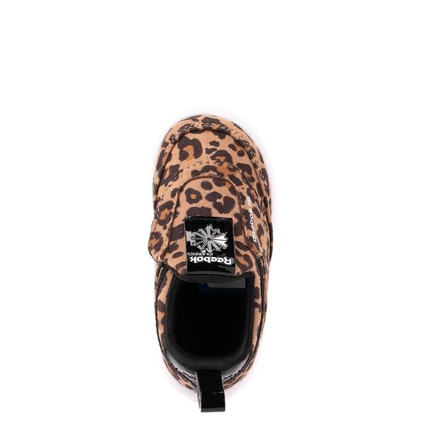 alternate view Reebok Club C Slip On Athletic Shoe - Baby / Toddler - LeopardALT2