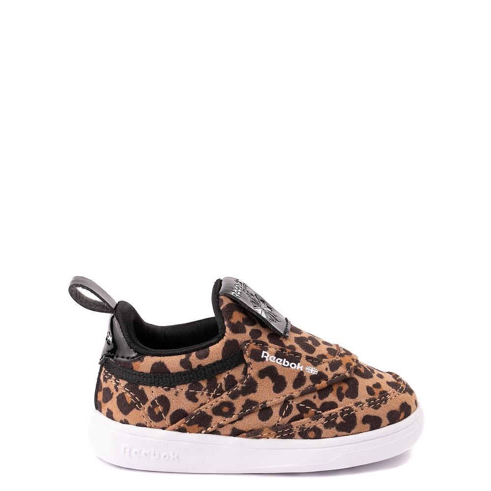 Reebok Club C Slip On Athletic Shoe - Baby / Toddler - Leopard