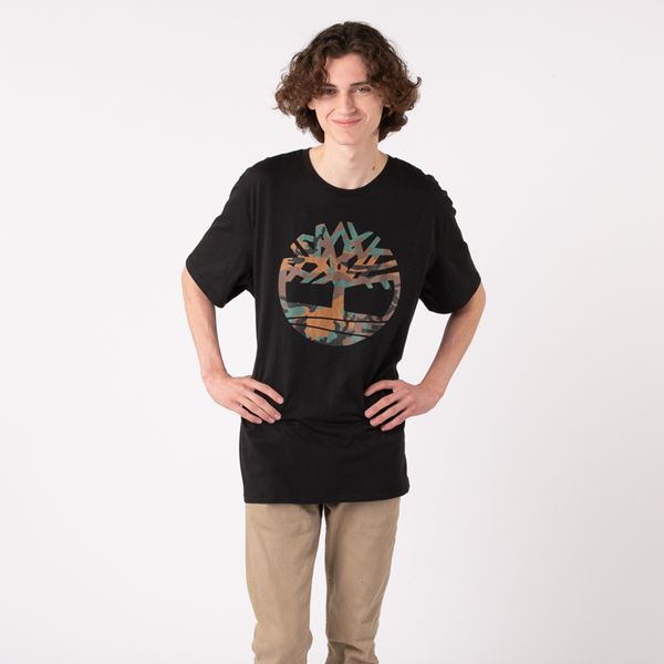 alternate view Mens Timberland Tree Logo Tee - Black / CamoALT1