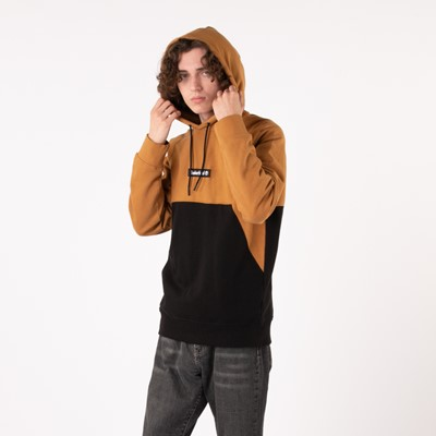 Alternate view of Mens Timberland Cut and Sew Hoodie - Wheat / Black