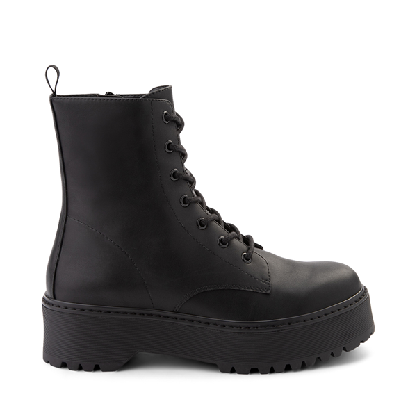 Main view of Womens Madden Girl Dynamite Combat Boot - Black