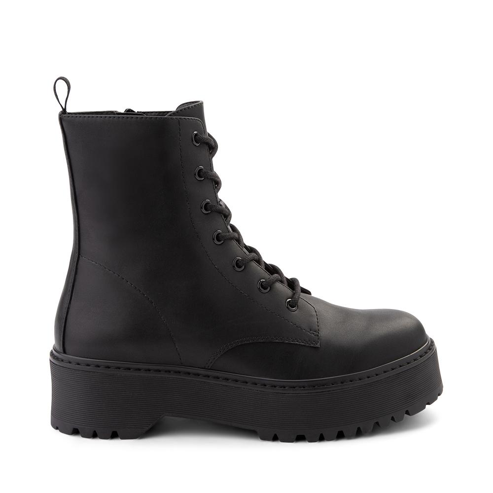 Womens Madden Girl Dynamite Combat Boot - Black