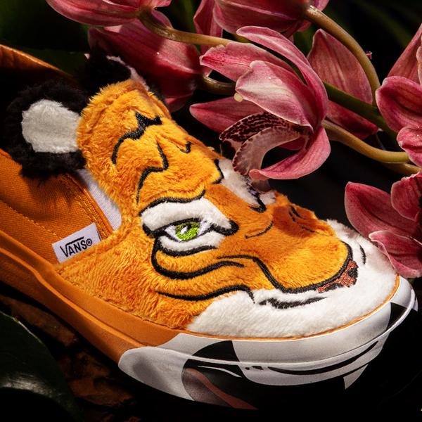 alternate view Vans x Project CAT Slip On Skate Shoe - Little Kid - Wild TigerALT1B