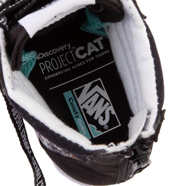 alternate view Vans x Project CAT Sk8 Hi ComfyCush® Skate Shoe - Little Kid - Black / Playing TigersALT2B