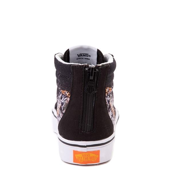 alternate view Vans x Project CAT Sk8 Hi ComfyCush® Skate Shoe - Little Kid - Black / Playing TigersALT4