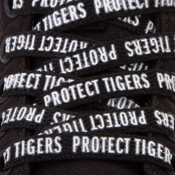 alternate view Vans x Project CAT Sk8 Hi ComfyCush® Skate Shoe - Little Kid - Black / Playing TigersALT4B
