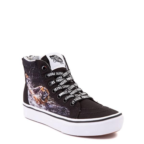 alternate view Vans x Project CAT Sk8 Hi ComfyCush® Skate Shoe - Little Kid - Black / Playing TigersALT5