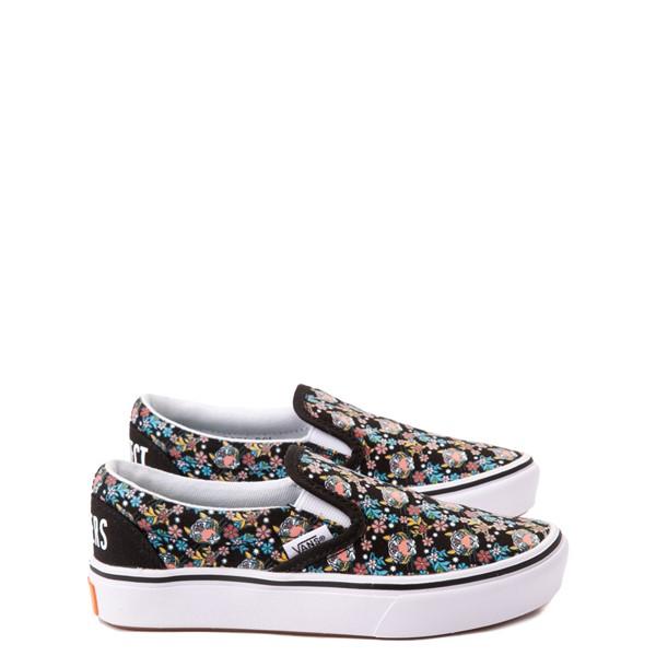 Main view of Vans x Project CAT Slip On ComfyCush® Skate Shoe - Little Kid - Black / Tiger Floral