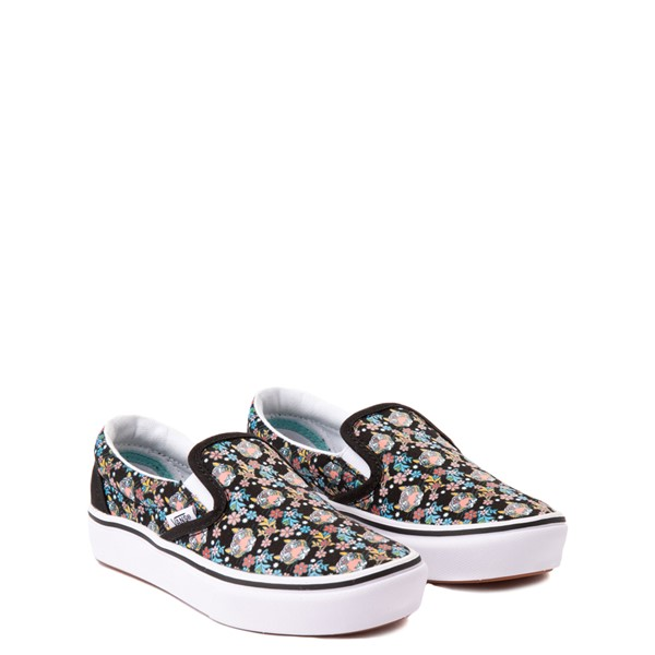 alternate view Vans x Project CAT Slip On ComfyCush® Skate Shoe - Little Kid - Black / Tiger FloralALT5