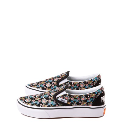 Alternate view of Vans x Project CAT Slip On ComfyCush® Skate Shoe - Little Kid - Black / Tiger Floral