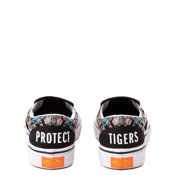 alternate view Vans x Project CAT Slip On ComfyCush® Skate Shoe - Big Kid - Black / Tiger FloralALT4
