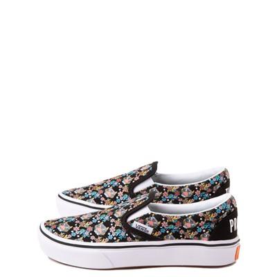 Alternate view of Vans x Project CAT Slip On ComfyCush® Skate Shoe - Big Kid - Black / Tiger Floral