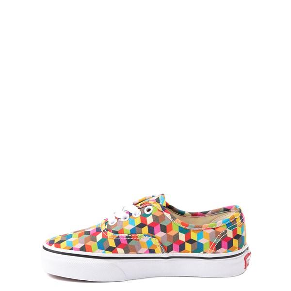alternate view Vans Authentic 3D Checkerboard Skate Shoe - Little Kid - MulticolorALT1